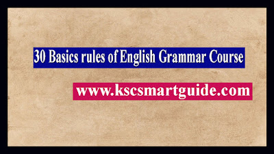 30 Basics rules of English Grammar Course