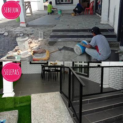 Proses Renovasi rumah lelong kepada homestay
