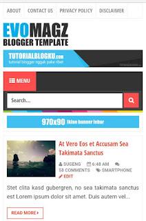 Template Keren Evo Magz v.4 Original Khusus Blogspot
