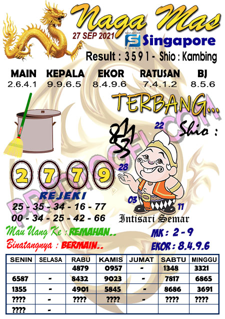 Syair Nagamas Sgp45 Senin 27 September 2021