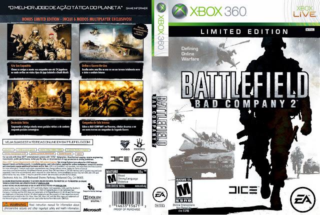Capa xBox360 BATTLEFIELD BAD COMPANY 2 LIMITED EDITION
