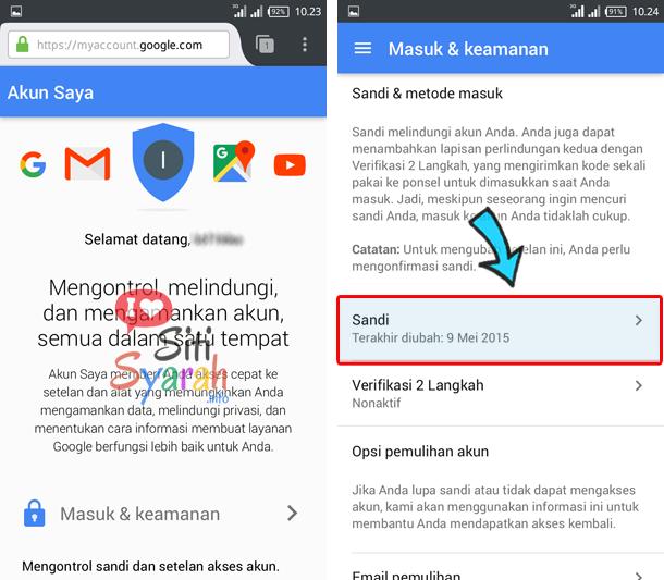 Ganti Password Akun Google Di Android
