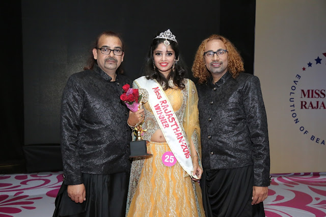 MISS RAJASTHAN organised by Yogesh Mishra. Geetanjali won the title for MISS RAJASTHAN 2016