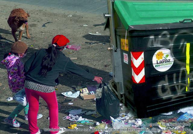 Problema de los contenedores de basura en el circuito paceño
