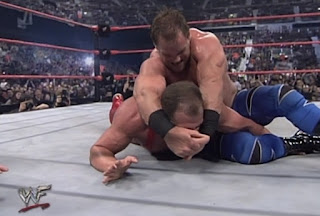 WWE / WWF Insurrextion (2001) - Chris Benoit puts Kurt Angle in the crossface