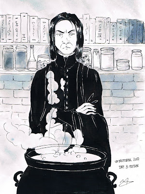 Inktober 2017 Harry Potter Severus Snape Potions