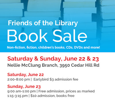 Booksale poster June 22 and 23, 2019