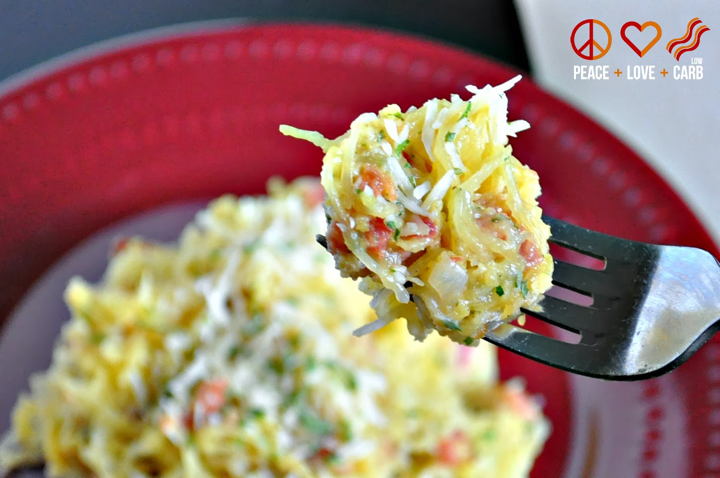 Low Carb Pasta Carbonara - Spaghetti Squash Carbonara with Pancetta and Parmesan