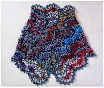 Chal Crochet 4 colores para el verano