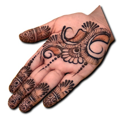 Easy Indian Mehndi Design Front