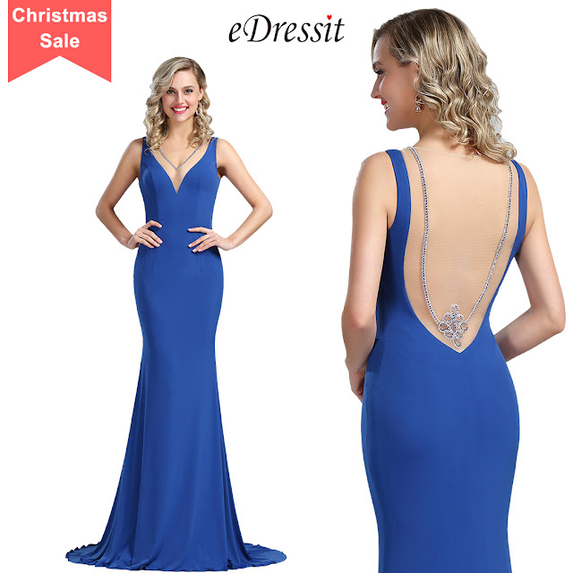 Persian Blue Sleeveless Long Maternity Prom Dress
