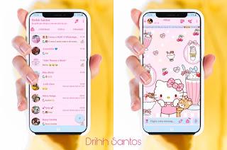 Hello Kitty 3 Theme For YOWhatsApp & Fouad WhatsApp By Driih Santos
