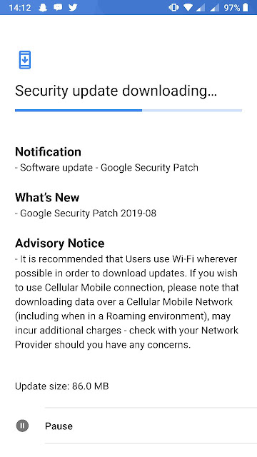 Nokia 8 receiving August 2019 Android Security update