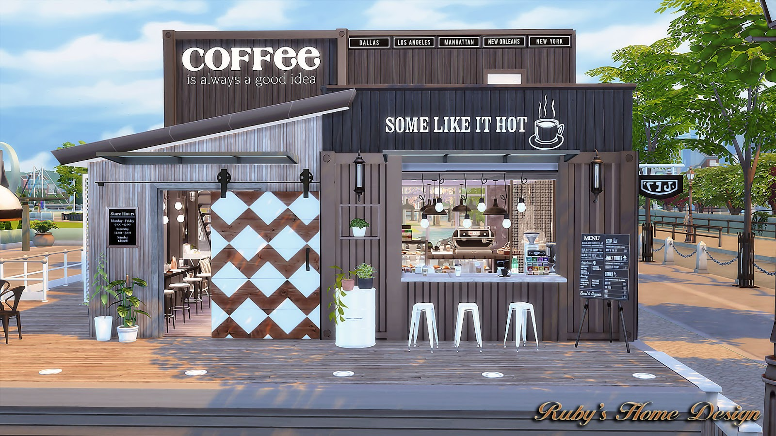 Sims 3 Küche Modern Sims4 Container Coffee Shop Ruby 39s Home Design