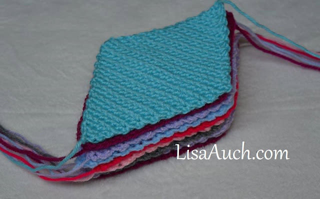 diamond scrap yarn blanket crochet pattern