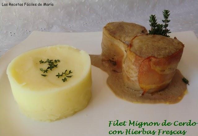 Filet Mignon de Cerdo con Hierbas Frescas