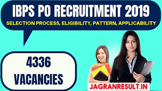 IBPS PO Recruitment 2019: 4336 Vacancies Issued at www.ibps.in