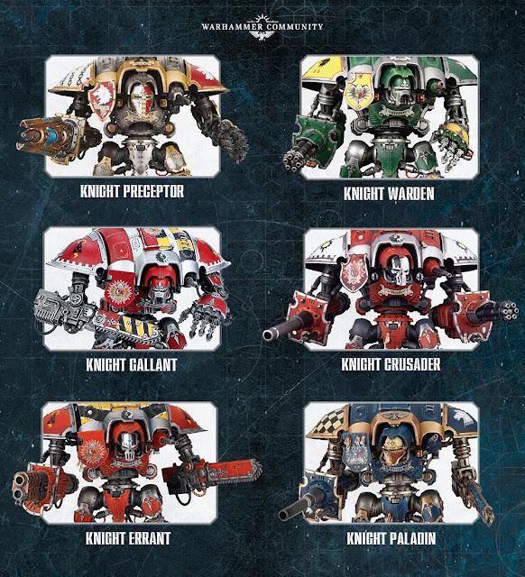Tipos de Imperial Knight