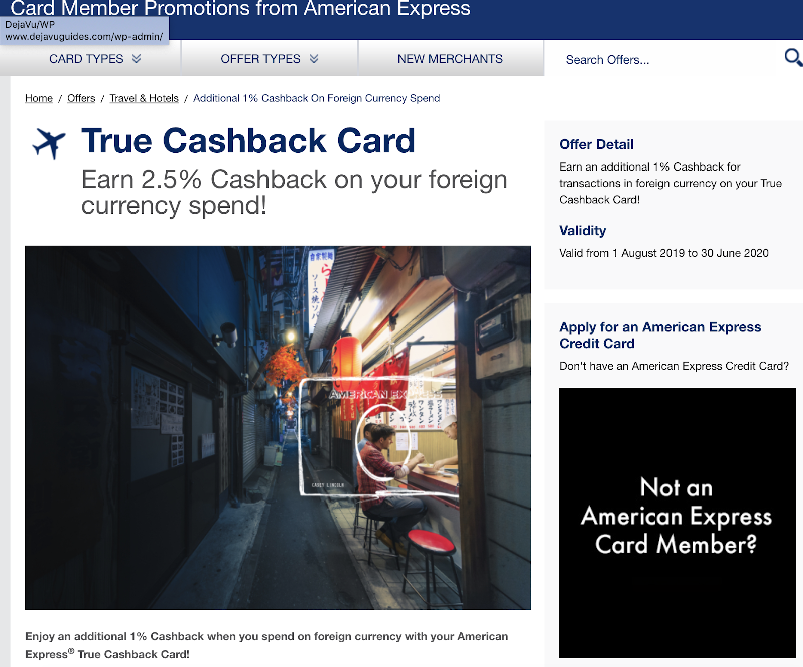 My Singapore My Home: AMEX True Cashback Card is offering an ...