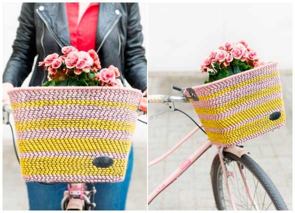 cesta bicicletas, cestos alambre tejidos, proyectos, manualidades