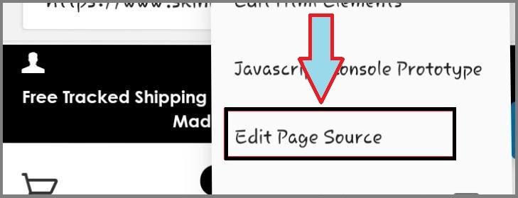 Edit shopify theme page source