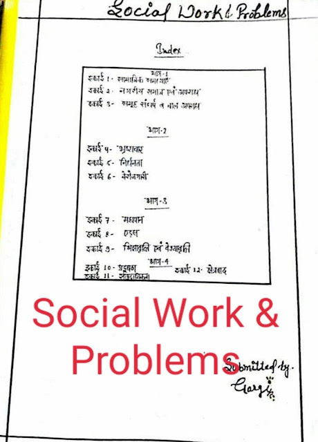 Handwritten Notes Social Work and Problems : For UPSC Exam Hindi PDF Book
