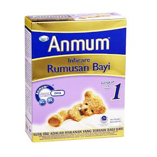 Harga Anmun Infacare 1 kemasan Box 400 gram Susu Bayi Usia 0-6 bulan