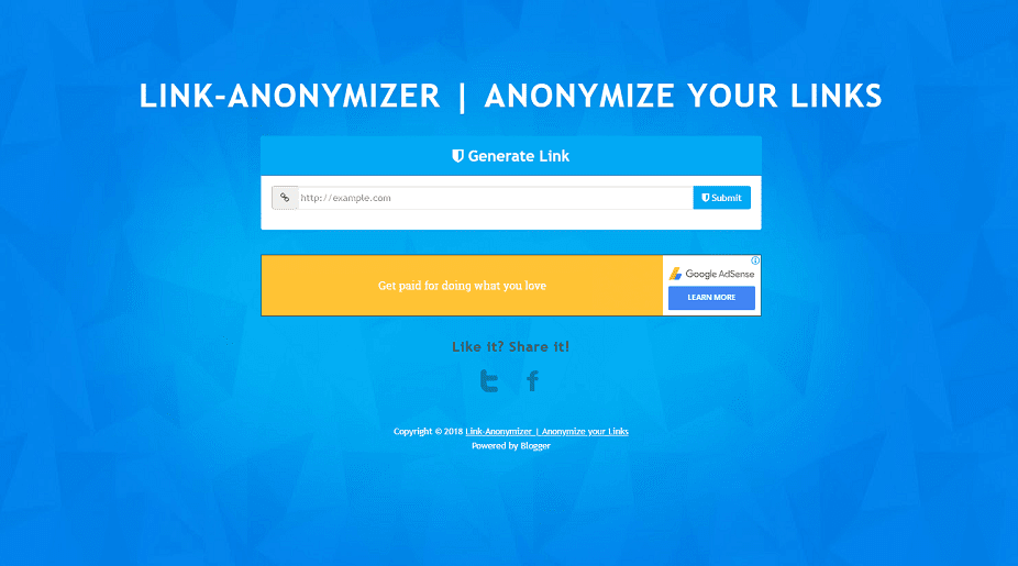 LINK-ANONYMIZER - Responsive Blogger Template