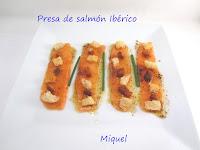 Presa de salmón ibérico
