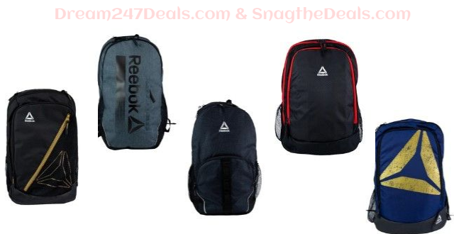Reebok Backpacks (limit one per cart!) $5 plus shipping