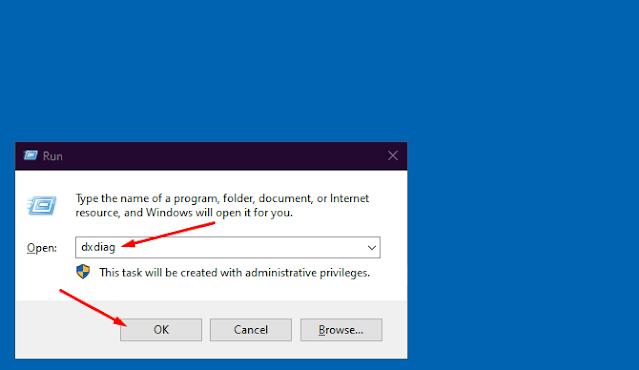 Cara membuka dxdiag di komputer atau laptop