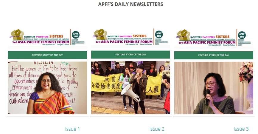 CNS & daily e-newsletters of 3rd APFF, Thailand