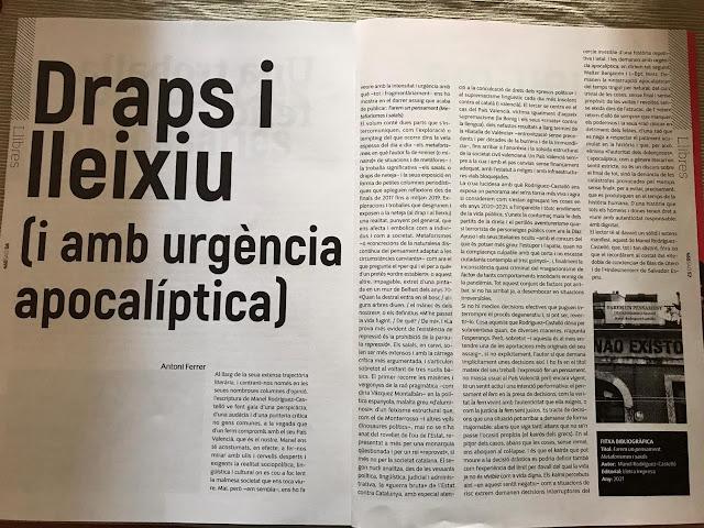 Draps i lleixiu (i amb urgència apocalíptica), per Antoni Ferrer (Saó)