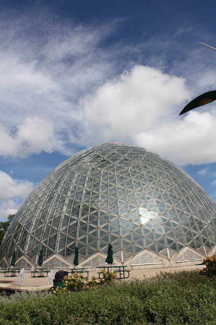 Interesting beehive dome structure at Mitchell Park Conservatory.