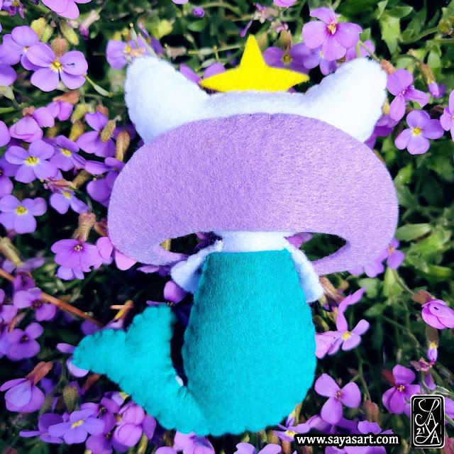 Meirenyu - peluche feutrine OC Saya's Art chat sirène Peluche - Meirenyu - OC Saya's Art chat sirène feutrine mignon kawaii plush felt cat mermaid mermay cute