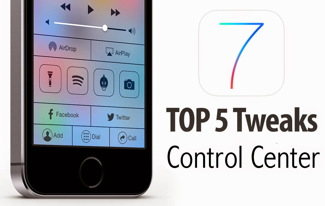 Top 5 free Cydia tweaks and Apps for your iPhone, iPad and iPod touch Control Center. Check it out!