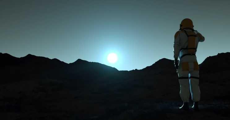 Mars'ın yer çekimi o kadar güçlü değildir, o yüzden daha yukarı sıçrayabilirsiniz.