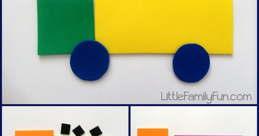 Build A Truck >> Little Family Fun Build A Truck