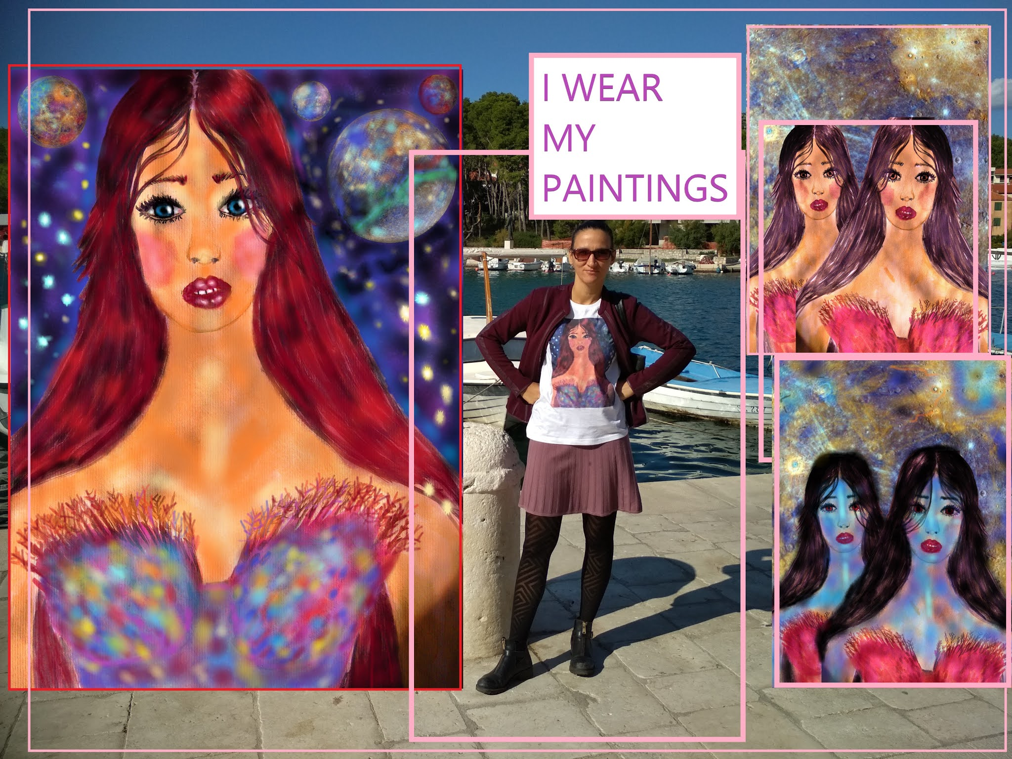 I WEAR MY PAINTINGS, STYLING A GRAPHIC TEE IN STARI GRAD