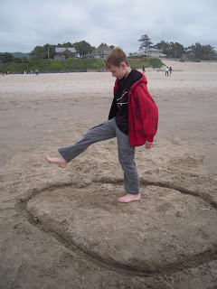 Photo of Boy in Sand by Linda G. Hatton