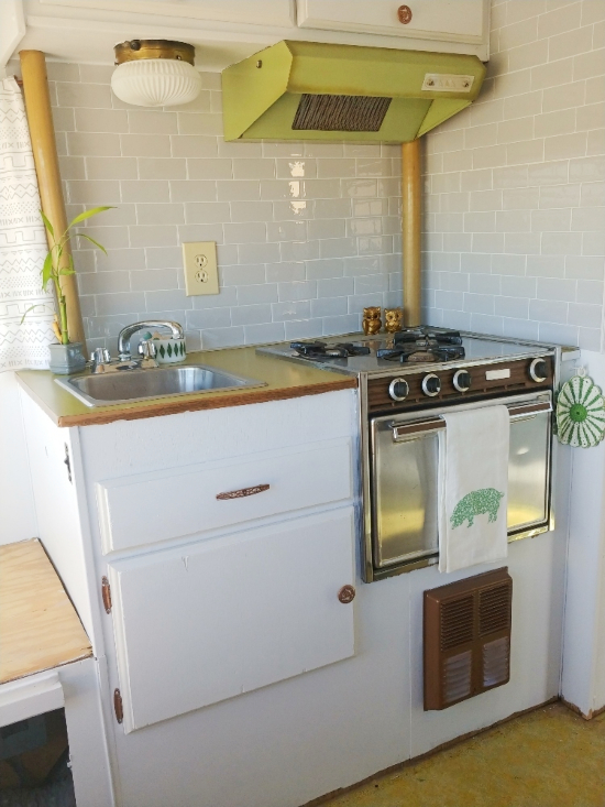 Create a beautiful RV kitchen with Smart Tiles!