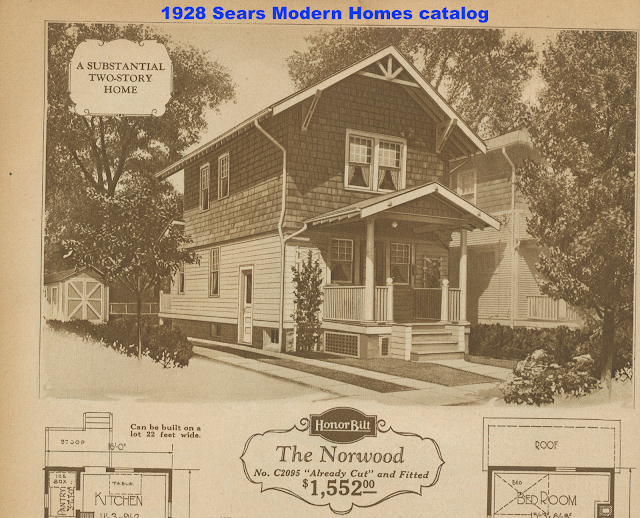 sepia toned catalog image of Sears Norwood model from 1928