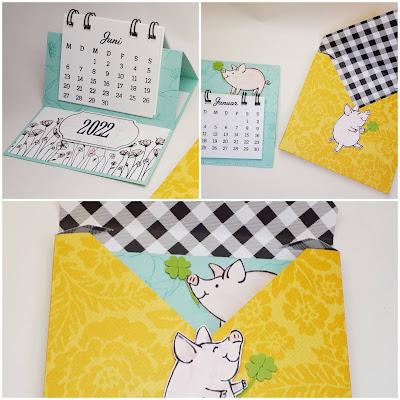 """Tischkalender mit """"Kreative Tage"""" im """"Muster Mix""""-Umschlag Stampin' Up! www.eris-kreativwerkstatt.blogspot.de"""