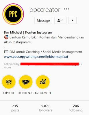cara mengembangkan akun instagram ppccreator