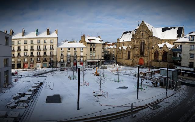 La Place Saint-Germain sous la neige... Le matin du 10 Février 2021...