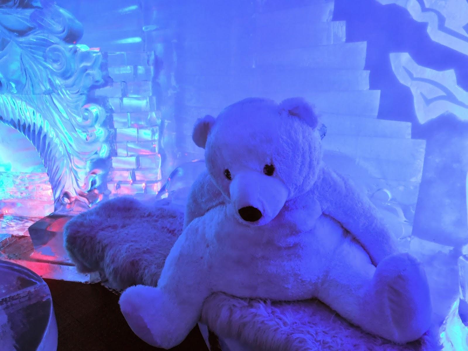 stuffed polar bear