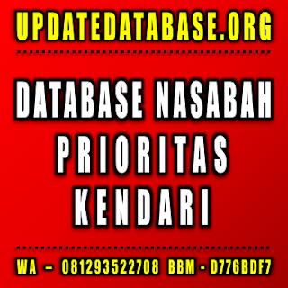 Jual Database Nasabah Kendari
