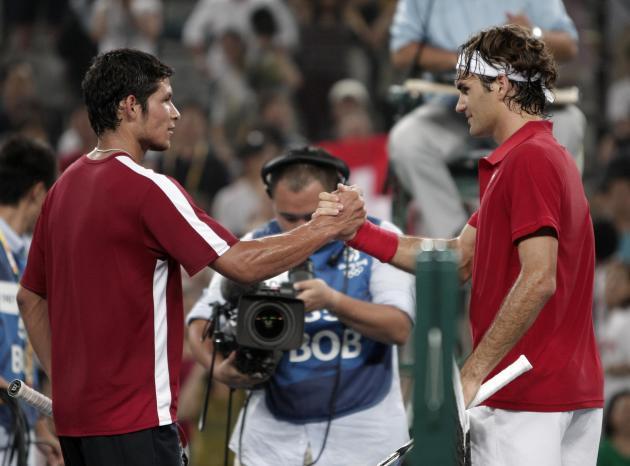 Rafael Arevalo Roger Federer tênis jogos olímpicos de Pequim 2008