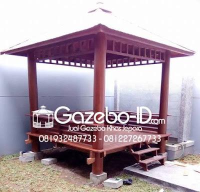 Gazebo Kayu Pohon Kelapa