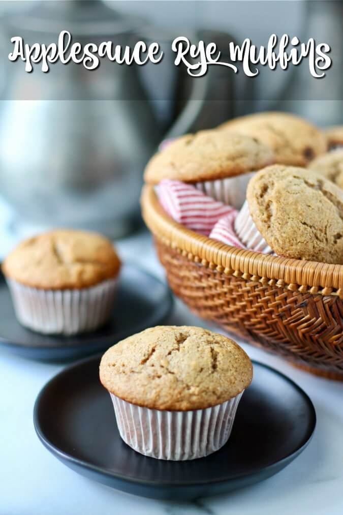Applesauce rye muffins